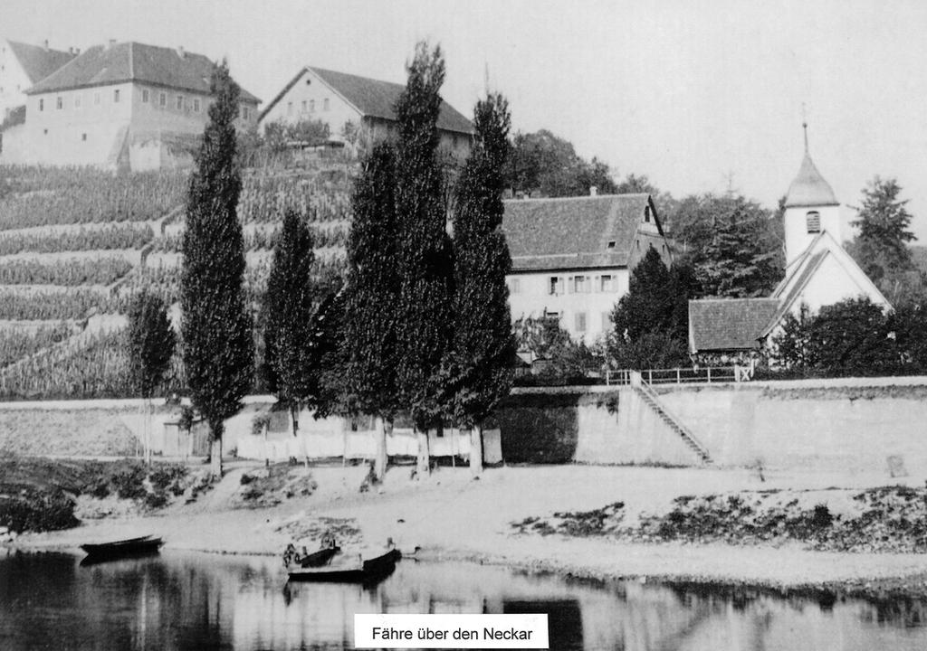 Fähre über den Neckar